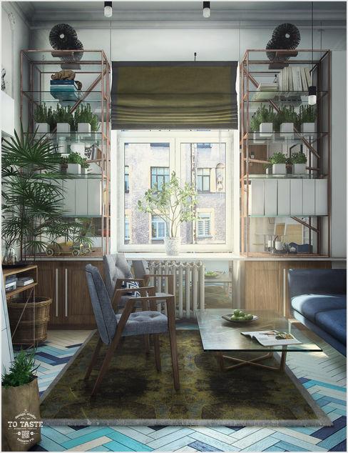 ToTaste.studio Eclectic style living room