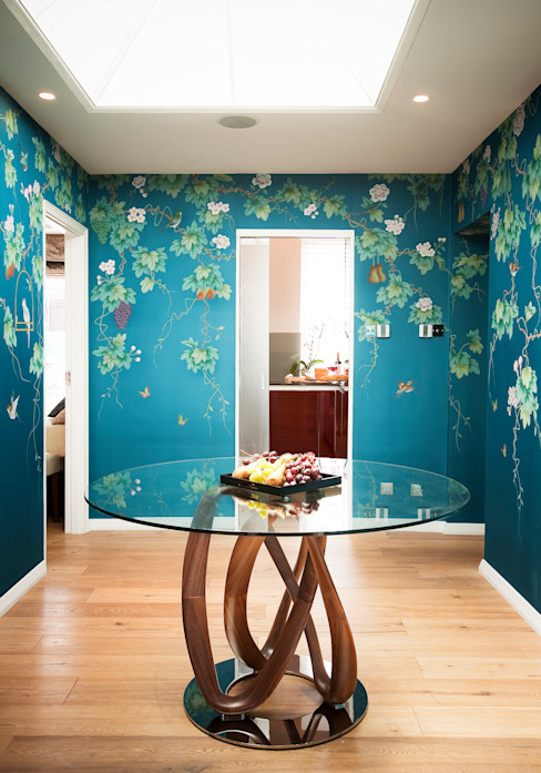 Kensington & Chelsea Matteo Bianchi Studio 隨意取材風玄關、階梯與走廊