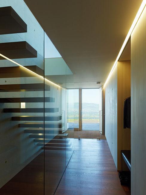 Dietrich | Untertrifaller Architekten ZT GmbH Pasillos, vestíbulos y escaleras modernos