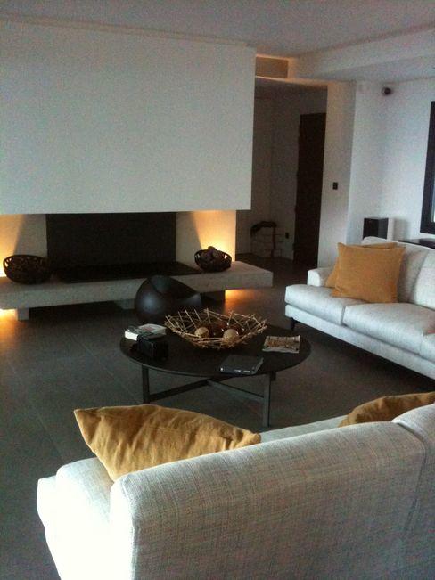 Villa pied dans l'eau Véronique Desmit Salon minimaliste