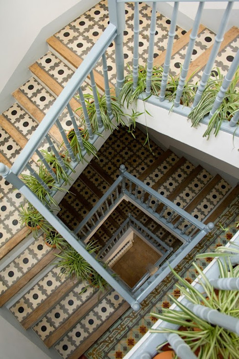Casa Josephine Mediterranean corridor, hallway & stairs