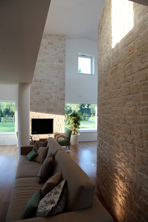 m12 architettura design Mediterrane woonkamers