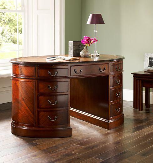 Antique Reproduction Oval Desk Parklane Furniture Study/officeDesks