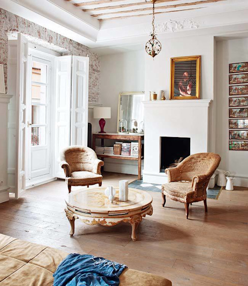 Reforma integral de vivienda Simetrika - Reformas Integrales en Madrid Salones de estilo clásico