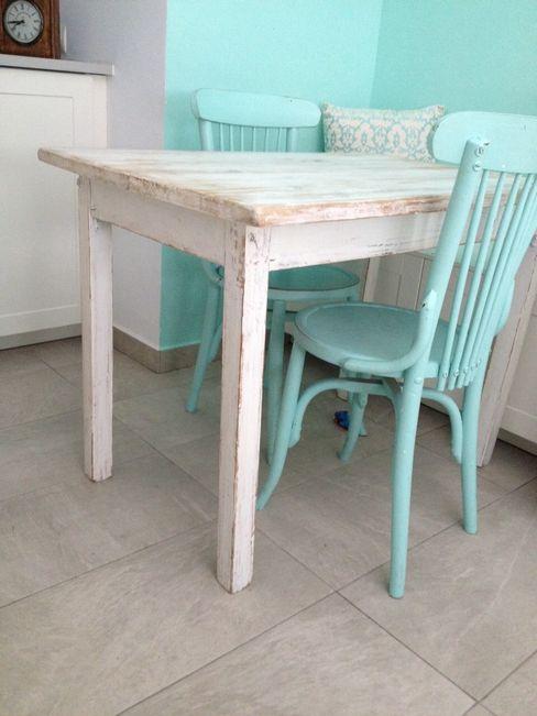Mesa reciclada pintada Atmospherabcn CocinaMesas, sillas y bancos