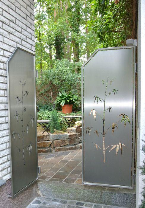 Garten Gates Edelstahl Atelier Crouse: 庭院