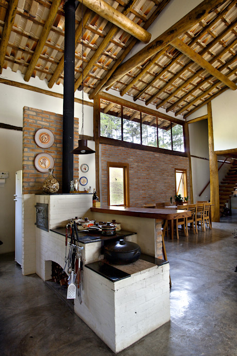 Bianka Mugnatto Design de Interiores Casas de estilo rústico