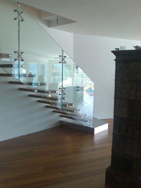 özgarip cam ltd şti Corridor, hallway & stairs Stairs