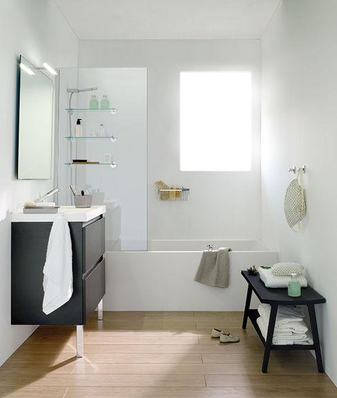 Mueble Antracita con lavabo de resina con dos cajones 100cm x 45cm de profundidad x 69cm altura. Sánchez Plá Baños de estilo moderno