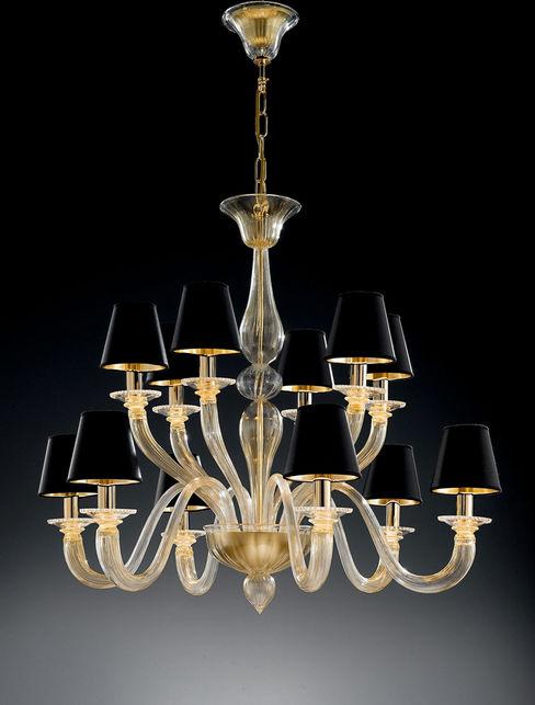 Lampadario con parlaumi Vetrilamp Vetrilamp ArteAltri oggetti d'arte