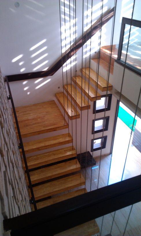 Residence M-35 ArchiDes Modern corridor, hallway & stairs