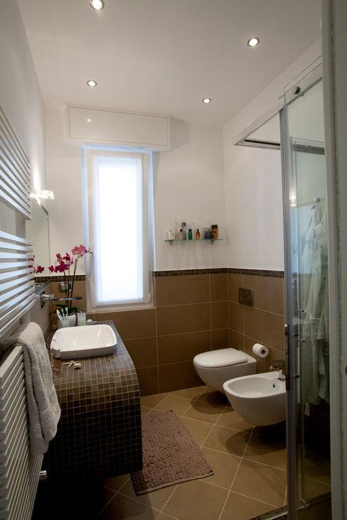 Appartamento Privato Rapallo Studio_P - Luca Porcu Design Bagno minimalista