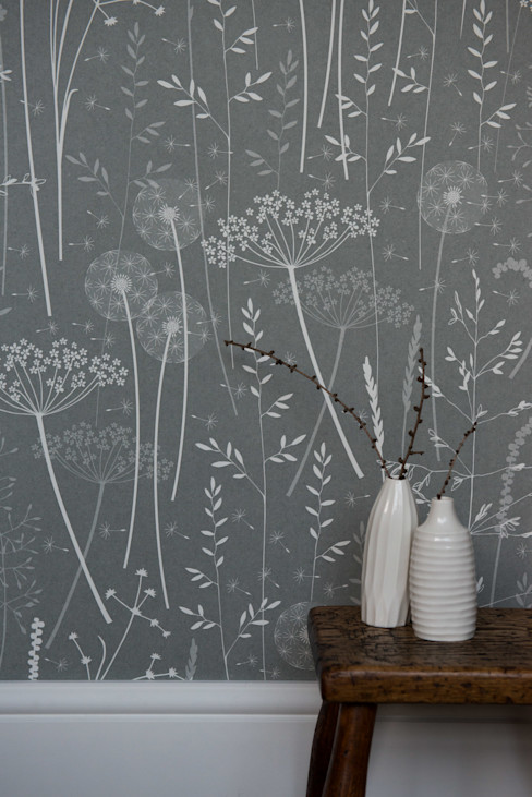 Paper Meadow in Charcoal Hannah Nunn 벽 & 바닥벽지