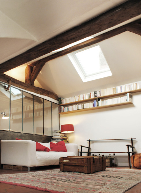 APARTMENT IN PARIS Atelier UOA Modern living room