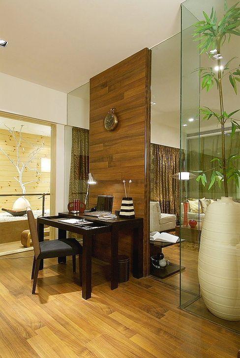 STUDY DEN shahen mistry architects 現代房屋設計點子、靈感 & 圖片