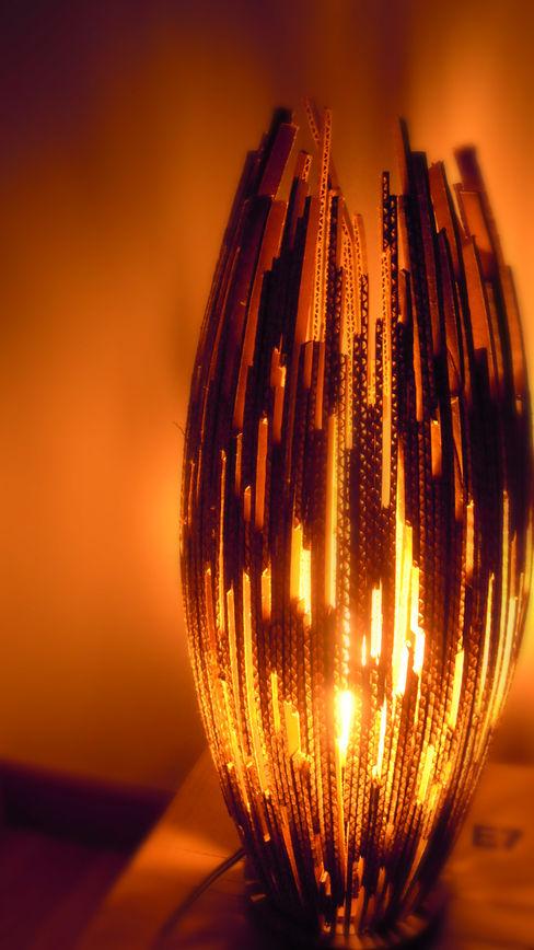Lampe en carton Jessica Mons ChambreEclairage