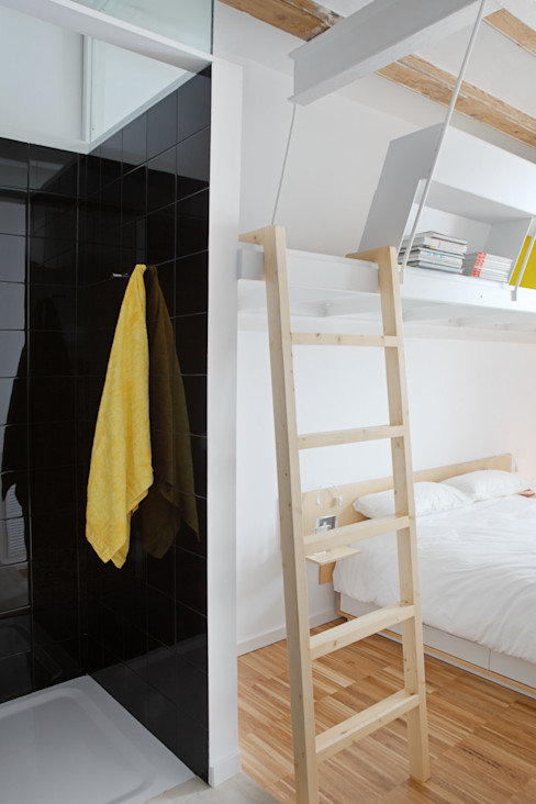 PISO SALVA46 Miel Arquitectos Dormitorios de estilo moderno