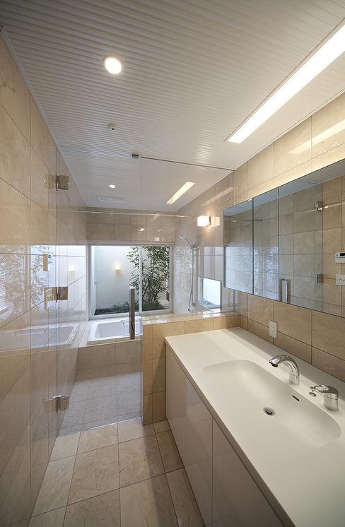 洗面浴室 Atelier Square モダンスタイルの お風呂