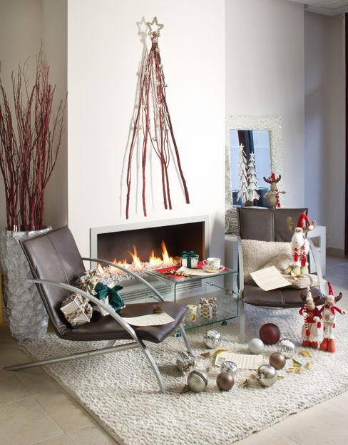 Ambiente Navidad Actúa Decor Salones rústicos de estilo rústico