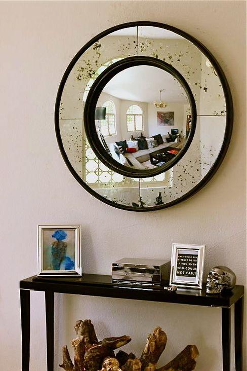 Bespoke Round Convex Mirror Alguacil & Perkoff Ltd. Dressing roomMirrors