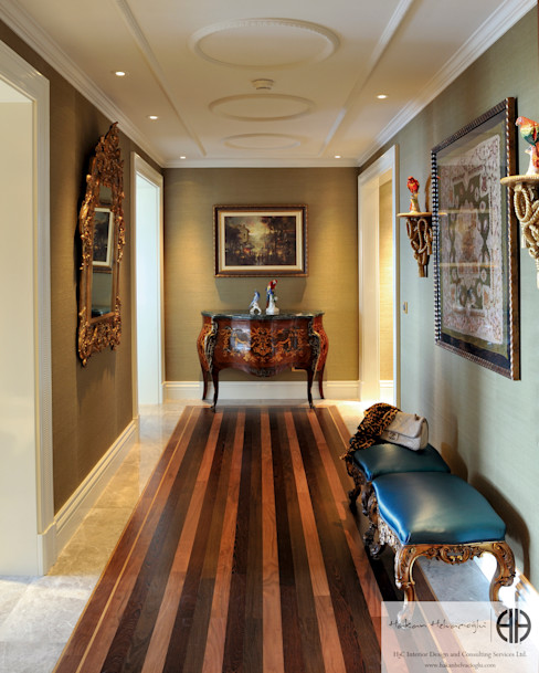 homify Classic corridor, hallway & stairs