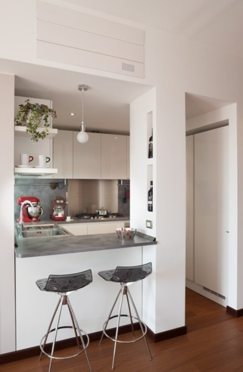 Casa Dp 2 gk architetti (Carlo Andrea Gorelli+Keiko Kondo) Cucina moderna