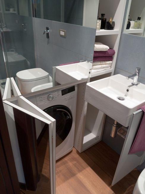 Particolare mobile lavatrice gk architetti (Carlo Andrea Gorelli+Keiko Kondo) Bagno moderno