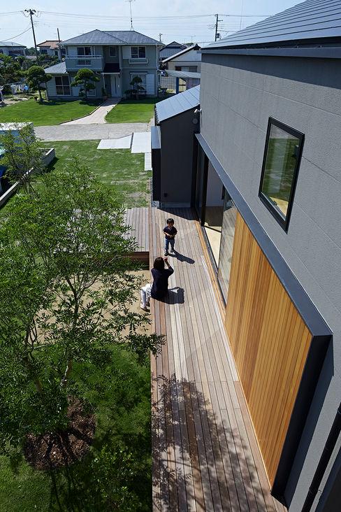 House - KT 佐々木達郎建築設計事務所 モダンな庭