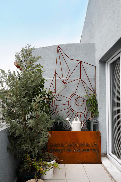CIHANGIR 41 // RESIDENTIAL PROJECT Escapefromsofa Eklektik Balkon, Veranda & Teras