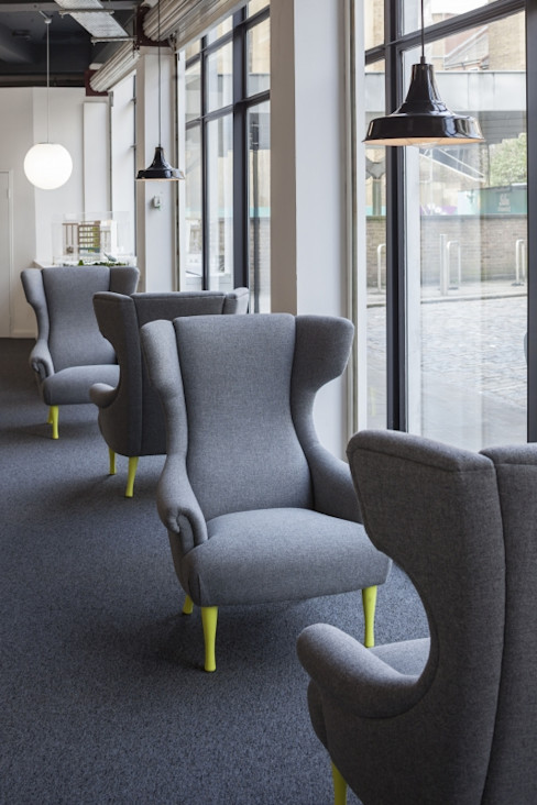 Shoreditch chairs - Bespoke Careers offices Salt and Pegram 서재/사무실의자