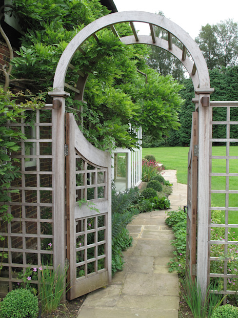 Country Family Garden With Oriental Water Garden Cherry Mills Garden Design Jardines rurales