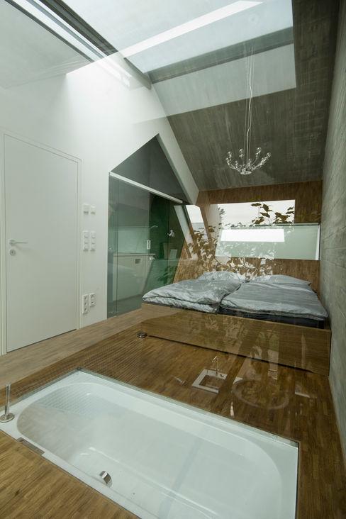 cj_5 - housing in urban density Caramel architekten Ausgefallene Schlafzimmer