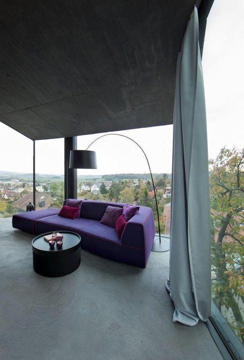Wohnhaus Dielsdorf L3P Architekten ETH FH SIA AG Moderne Wohnzimmer
