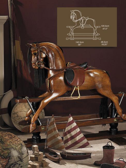 Viktorianisch Schaukelpferd Sven Markus von Hacht - Design de Noblesse KinderzimmerSpielzeug