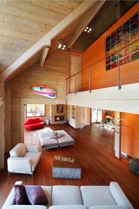 alberico & giachetti architetti associati Salones de estilo moderno