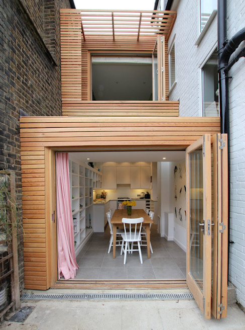 Side extension build in timber frame Affleck Property Services Moderne huizen