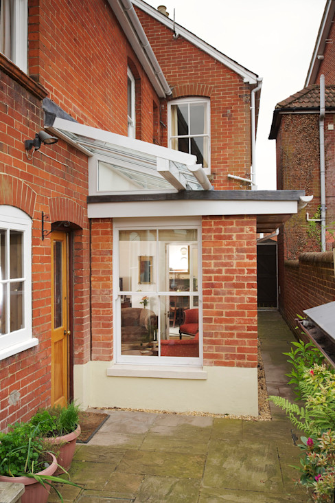 Marlborough Road - Extension to Single Room Haydn Bennett Chartered Architect Modern Living Room