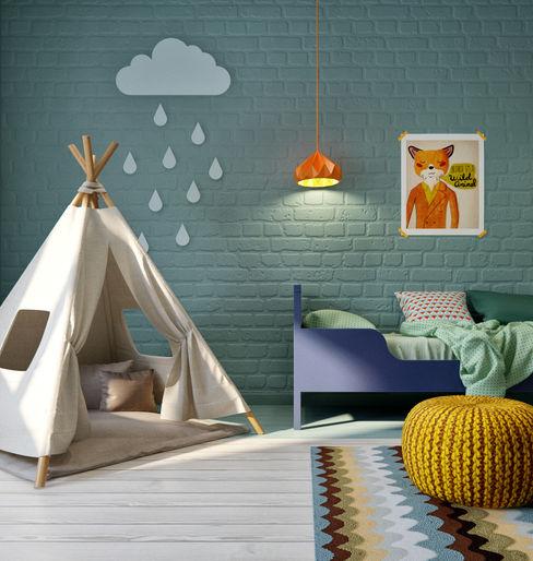 INT2architecture Scandinavian style nursery/kids room