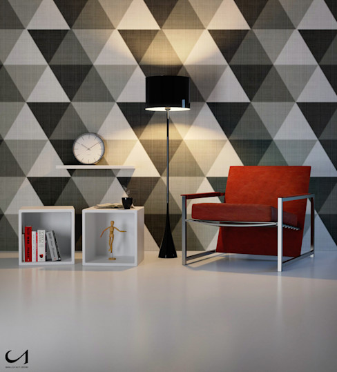 Gianluca Muti Interior & 3D Designer Living roomAccessories & decoration