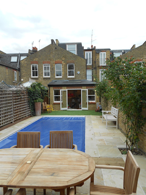 Fulham, London - rear extension, loft conversion and entire house renovation including inserting swimming pool Zebra Property Group
