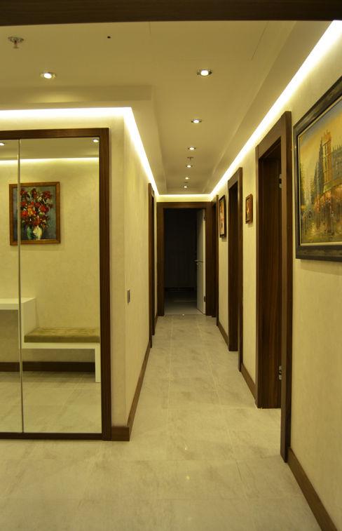 NM Mimarlık Danışmanlık İnşaat Turizm San. ve Dış Tic. Ltd. Şti. Classic corridor, hallway & stairs