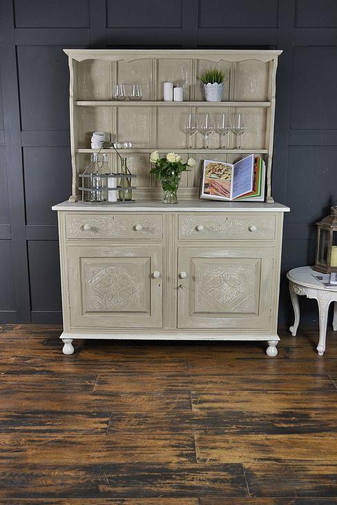Shabby Chic Antique Oak Kitchen Dresser The Treasure Trove Shabby Chic & Vintage Furniture KitchenStorage