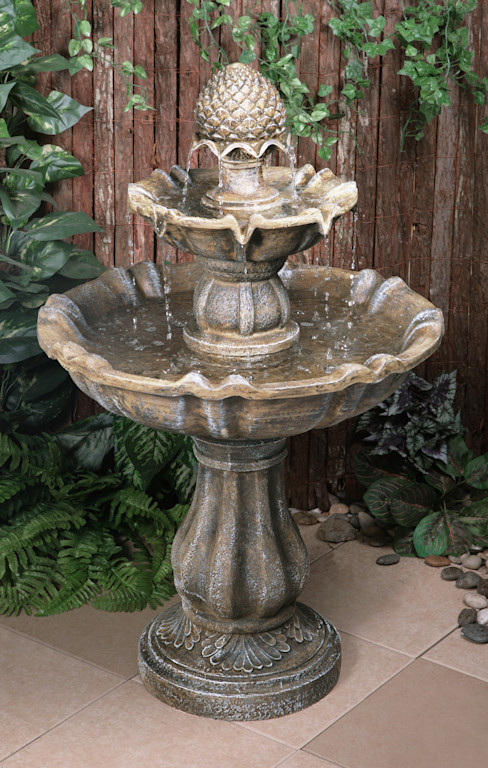 Zuvan 2 Tier Water Fountain Primrose JardínAccesorios y decoración