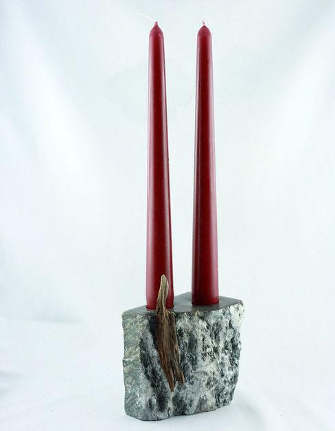Decoration and utilities handmade of soapstone // Gebrauchskunst aus Speckstein, Treibholz u.a. Naturmaterialien StoneSoftArt WohnzimmerBeleuchtung