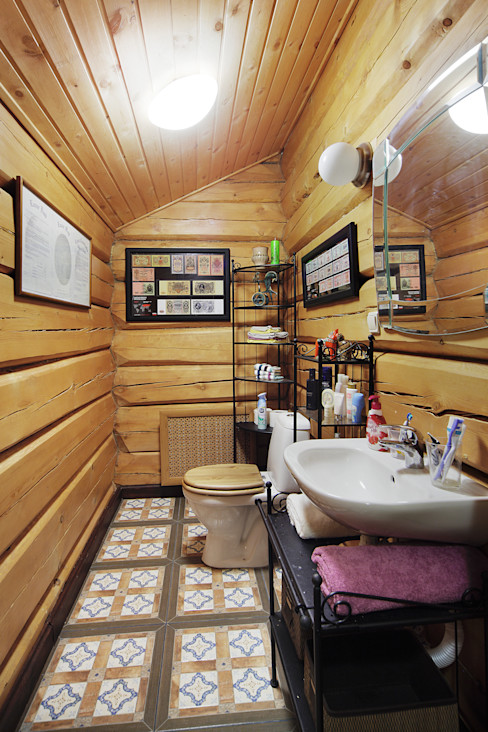 Ирина Шаманова Rustic style bathroom