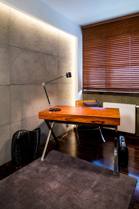 Viva Design - projektowanie wnętrz Ruang Studi/Kantor Gaya Eklektik