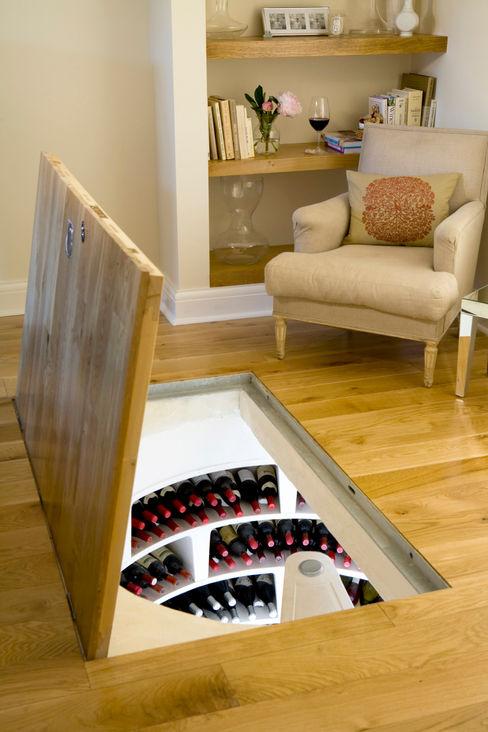 Spiral Cellar with Recessed Trap Door Spiral Cellars Ruang Penyimpanan Wine/Anggur Gaya Rustic