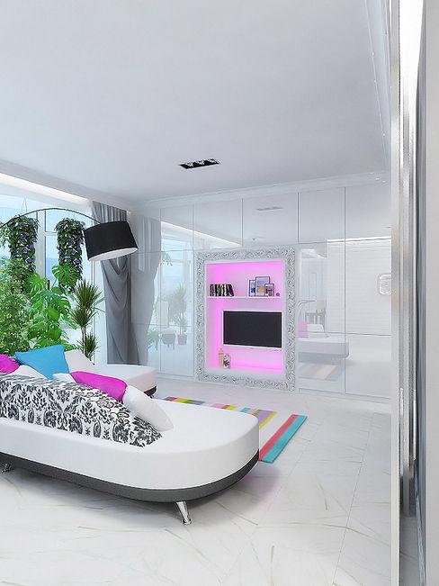 Дизайн студия Александра Скирды ВЕРСАЛЬПРОЕКТ Eclectic style living room