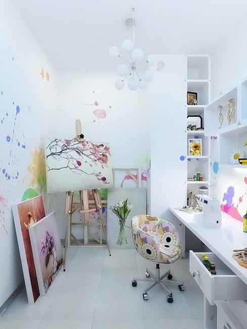 Дизайн студия Александра Скирды ВЕРСАЛЬПРОЕКТ Eclectic style study/office
