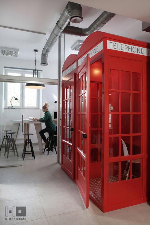 Hubert Dziedzic Architektura Wnętrz Offices & stores Red